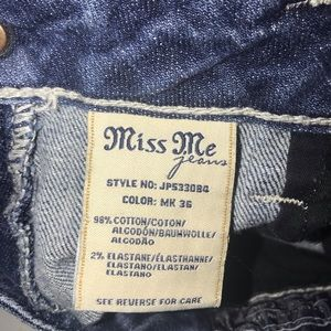 Miss Me Jeans - Miss Me Buckle Angel Wing Boot Embellished Jeans